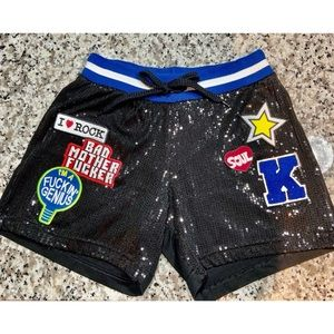 Follow us sequins front shorts high waist band M